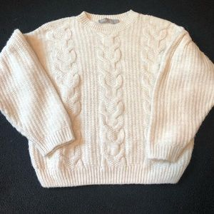 ASOS oversized cable knit sweater